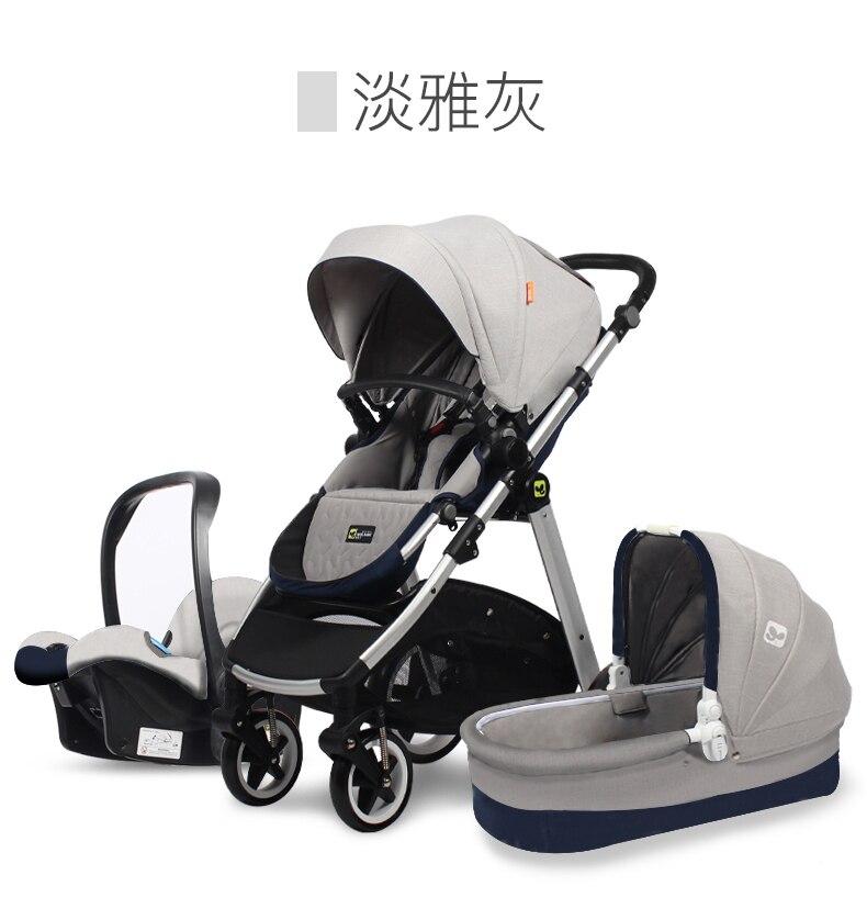 Carrinho de Bebê Gêmeos Carrinhos 0-4 Luz Dobrável