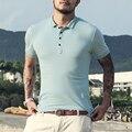 Марка 2016 повседневная мужская polo рубашка хлопка с коротким рукавом твердые Британский Homme Slim fit Мужская Одежда Camisas polo джерси polo