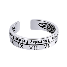 925 Sterling Silver Simple Retro Personality Roman Numerals Open Ring For Women Vintage Carving Finger Fashion Jewelry