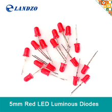50pcs LED light emitting diode 5MM bright red yellow green white compatible arduino Landzo