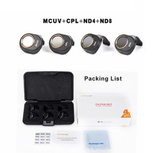 SUNNYLIFE 4Pcs Spark MCUV/CPL/ND4/ND8  Filter Camera Lens Filters Combo for DJI Spark Drone Accessories