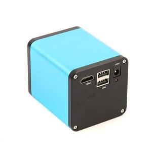 Image 4 - 2020 dönebilen eklemli kelepçe kol standı 200X Zoom objektifi SONY IMX290 otomatik odaklama sanayi HDMI ölçüm Video mikroskop kamera
