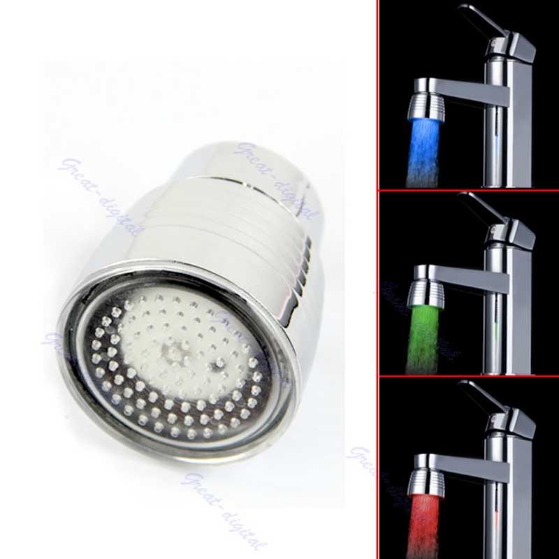 Temperature Sensor 3 Color Kitchen Water Tap Faucet RGB