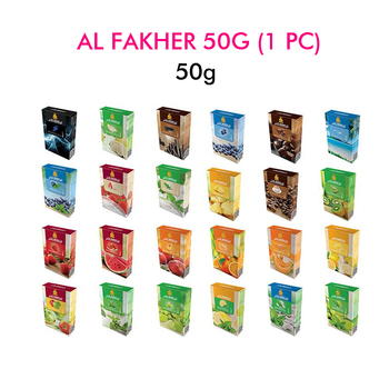 50g Mixed Flavors Al Fakher Hookah Tobacco Metal Shisha Hookah Hose Charcoal Accessories Portable Hookah Flavor