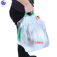 20 Liters Outdoor Folding Water Kettle Camping Storage Container Picnic Collapsible Transparent Drinking Bucket Portable PVC 15 liters outdoor foldable collapsible cold drinking water container camping hiking picnic bucket storage carrier