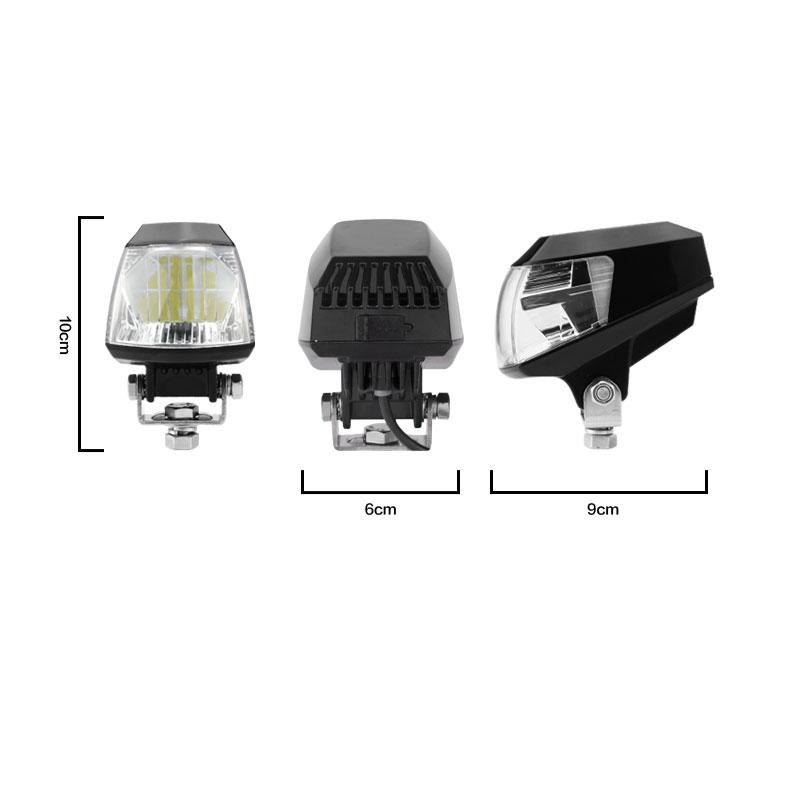 Motowolf Motorcycle Headlights 20W Universal DC 12V-80V Motorbike Spotlight Head Light Lamp E03B 16