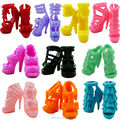 10 Pairs Different Fashion Cute Colorful Shoes Heels Sandals For Barbie Clothes Dress Doll Shoe Accessories Best Gift Child Toys