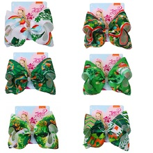 8 Party Bows Large Hair For Girls Clips Barrettes Bowknot Handmade Accessoires St. Patricks Day Gift