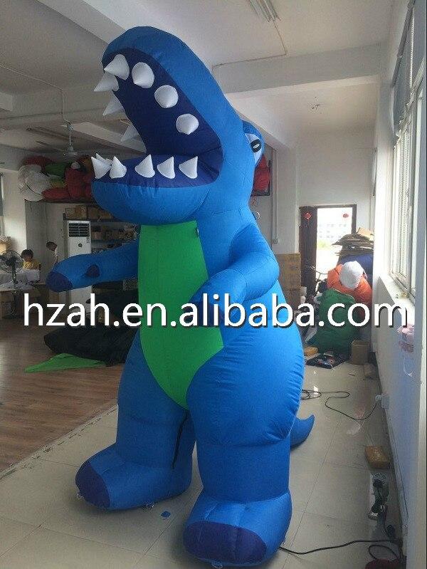 Giant Inflatable Standing Blue Dinosaur Cartoon Model Giant Inflatable Standing Blue Dinosaur Cartoon Model