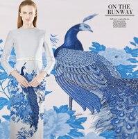Jacquard fabric big fashion brocade positioning dress cheongsam fabric autumn wide windbreaker clothing fabrics