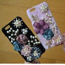 Новый 3D Роскошный Горный Хрусталь цветок Чехол Для Apple Iphone 6 6 S Plus 7 7 Плюс, кристалл Алмаза Жесткий Назад Мобильный телефон Дело Чехол