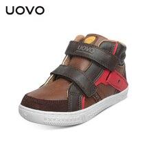 UOVO الربيع والخريف الاطفال حذاء كاجوال بنين أحذية رياضية منتصف قطع موضة الأطفال أحذية مدرسة الاطفال الأحذية حجم #27 37