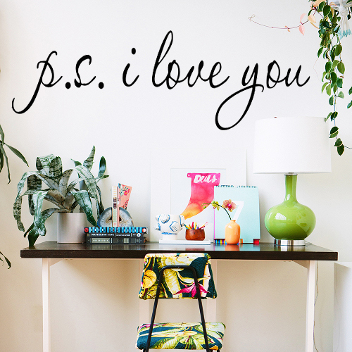Living Room Sayings aliexpress : buy ps i love you wall sticker vinyl quotes and