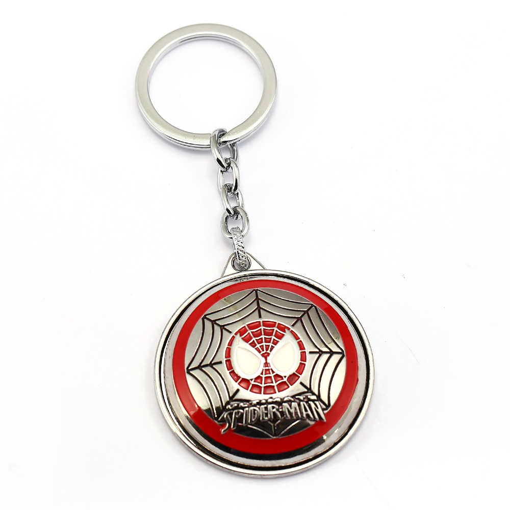 <font><b>Spiderman</b></font> Keychain spider man 4 <font><b>Style</b></font> Rotatable <font><b>Key</b></font> Chain Hot movie <font><b>Key</b></font> <font><b>Ring</b></font> Holder Pendant Chaveiro Jewelry