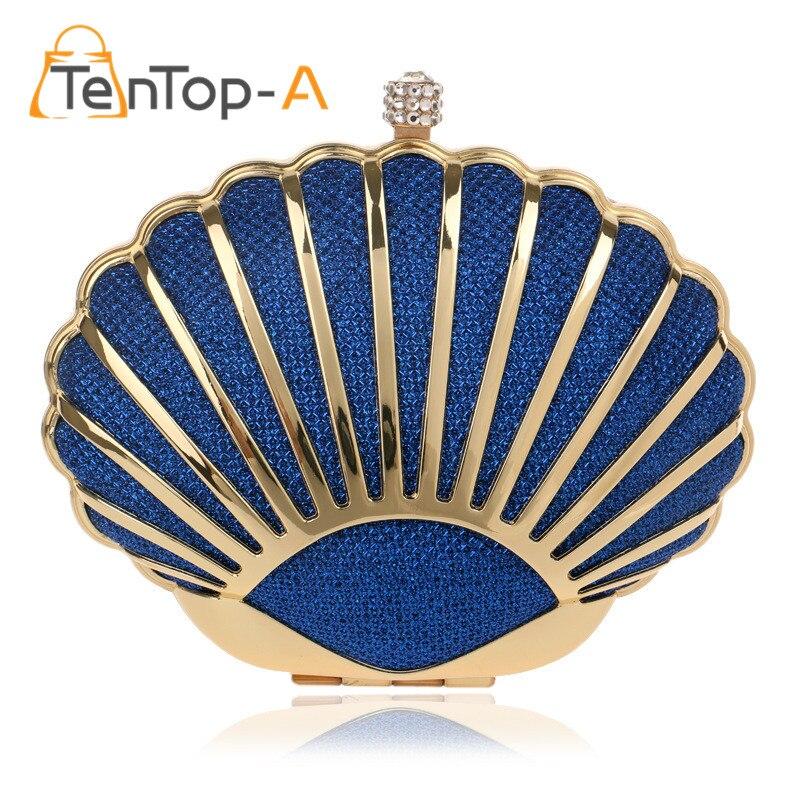 TenTop-Un diseño de Concha bolsas de noche de las mujeres color de la mezcla laz