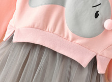 Winter Baby Girl Bunny Princess Patchwork Sweatshirt Tulle Dress