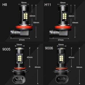 Image 5 - Farol de led automotivo, 2 peças, canbus h8 h11 hb3 9005 hb4 9006, farol de milha, 1200lm, 6000k, sem erro lâmpada led para condução 12v branco