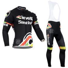 Men's pro tour team Bike Cycling Sets Long Sleeve Cycling Jersey+Gel Padded bib/Pants Mens Sports Cycling Clothing Ropa Ciclismo