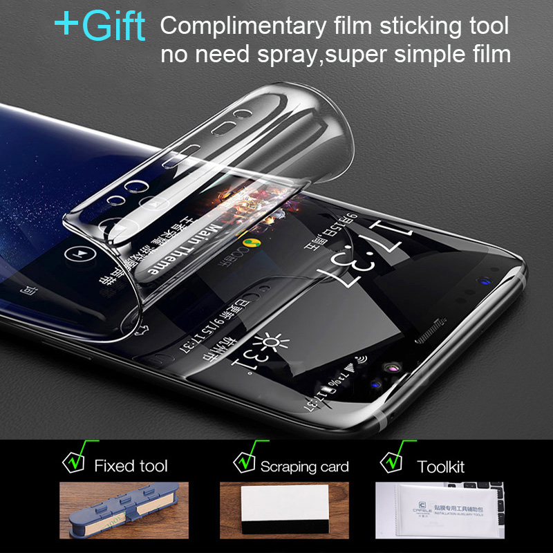 Image 5 - Full Soft Hydrogel Film For Samsung Galaxy S10 S9 S8 A8 Plus Note 10 9 8 Plus Screen Protector For Samsung S9 S10 Plus 5G S7Edge-in Phone Screen Protectors from Cellphones & Telecommunications