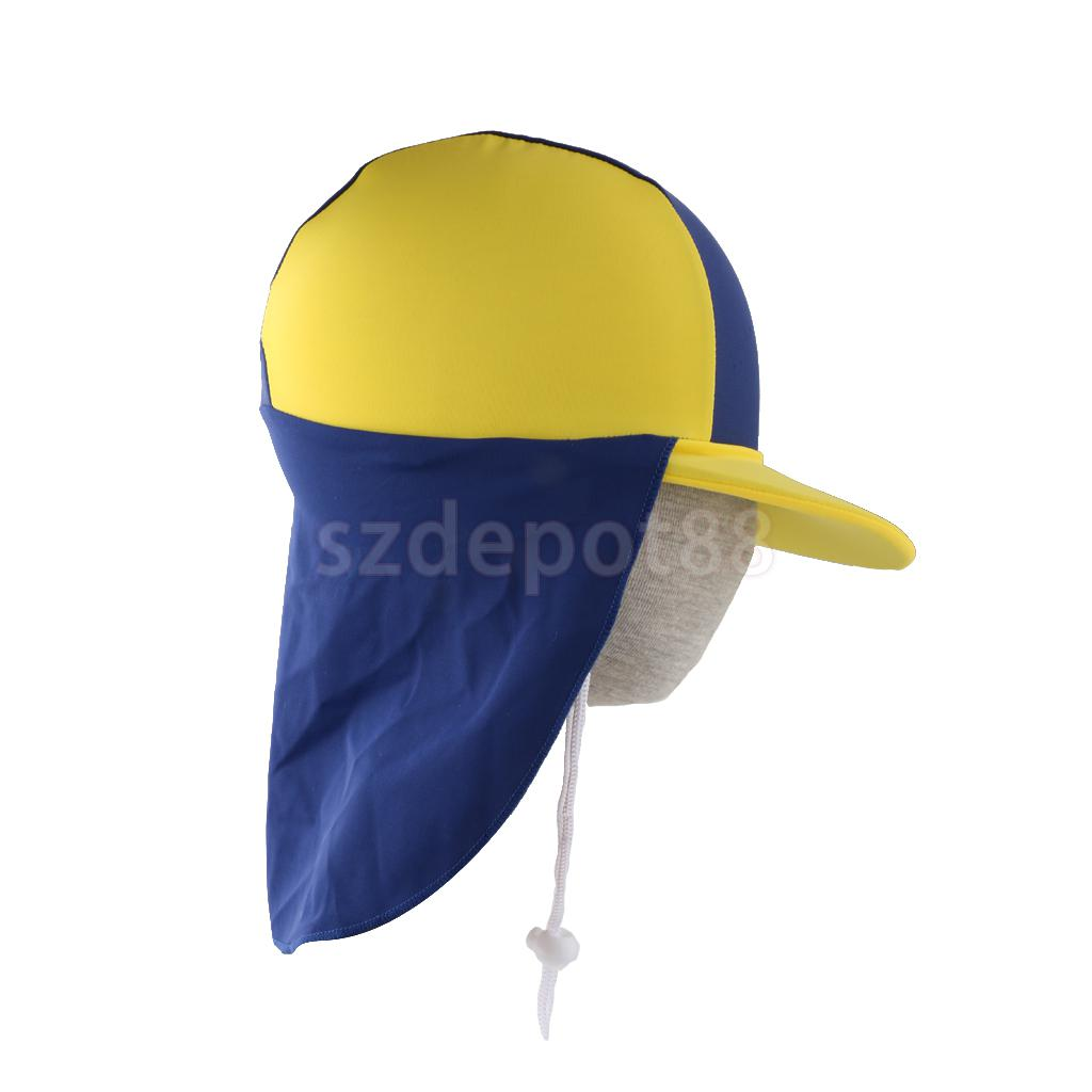 Kids Children Summer UPF 50+ UV Protection Outdoor Beach Sun Hat Neck Ear  Cover Flap Cap Adjustable 205b652f91d