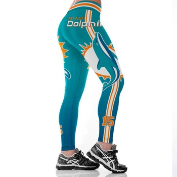 Unisex Football Team Dolphin 15 Print Tight Pants Workout Gym Training Running Yoga Sport Fitness Exercise Leggings Dropshipping 1