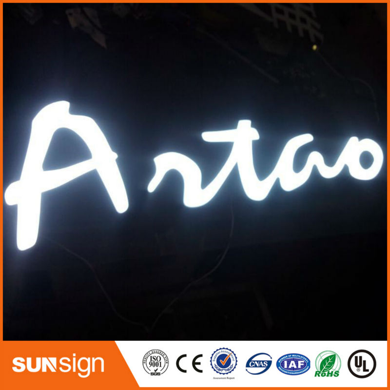 Wholesale Illuminated Letter Signs Led Super Shining Epoxy Resin Sign
