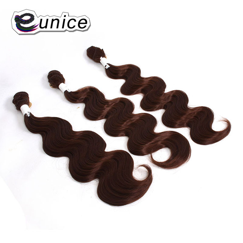 Brazilian Hair Body Wave with Closure synthetic hair bundles   (28)
