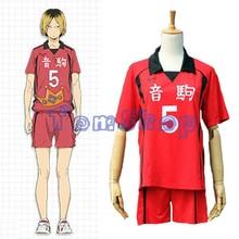 Haikyuu!! Nekoma liceum #5 Kenma Kozume przebranie na karnawał Jersey odzież sportowa jednolity rozmiar M XXL darmowa wysyłka