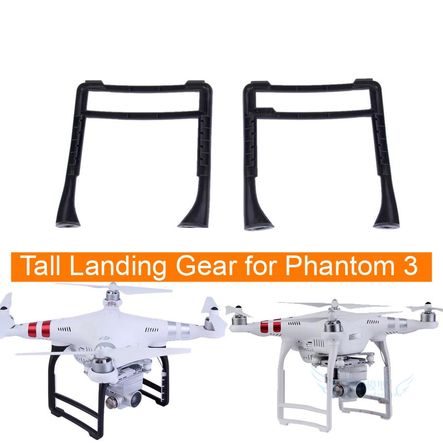 1pair Tall landing gears for DJI Phantom 3 spare parts black white color