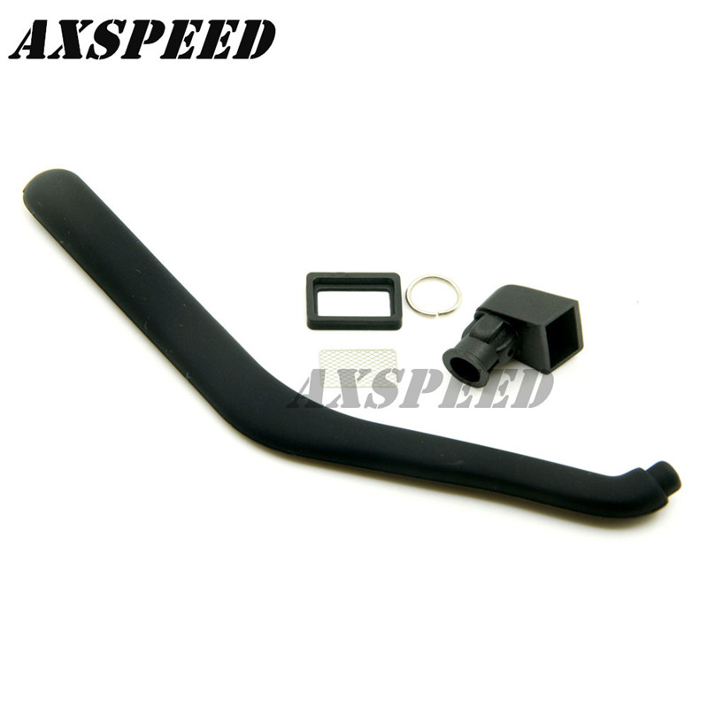 Good quality TABY:1:10 Scale Rubber Safari Snorkel for Hilux High Lift RC Crawler Car Truck(China)