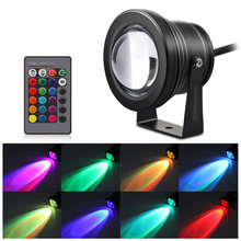 10W RGB LED Lawn Light Remote Control Garden Lights Outdoor with Spike for Yard Patio Path Spotlight Waterproof Lighting DC 12V(China)
