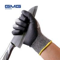 Eldiven iş GMG gri Anti-Cut HPPE kabuk siyah nitril köpük kaplama iş güvenliği eldiveni kesmeye dayanıklı eldivenler