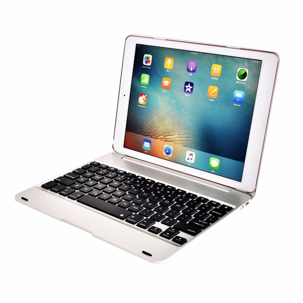 Fashion Clamshell ABS Plastic Wireless Bluetooth Keyboard For iPad Pro 9.7 Folio Style With Stand Protective Case Smart Cover электрическая цепная пила patriot esp 1814