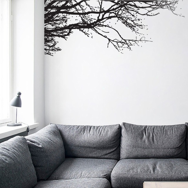 Black Trees Vinyl Wall Art Tree Branches Wall Decal Stickers Black ...
