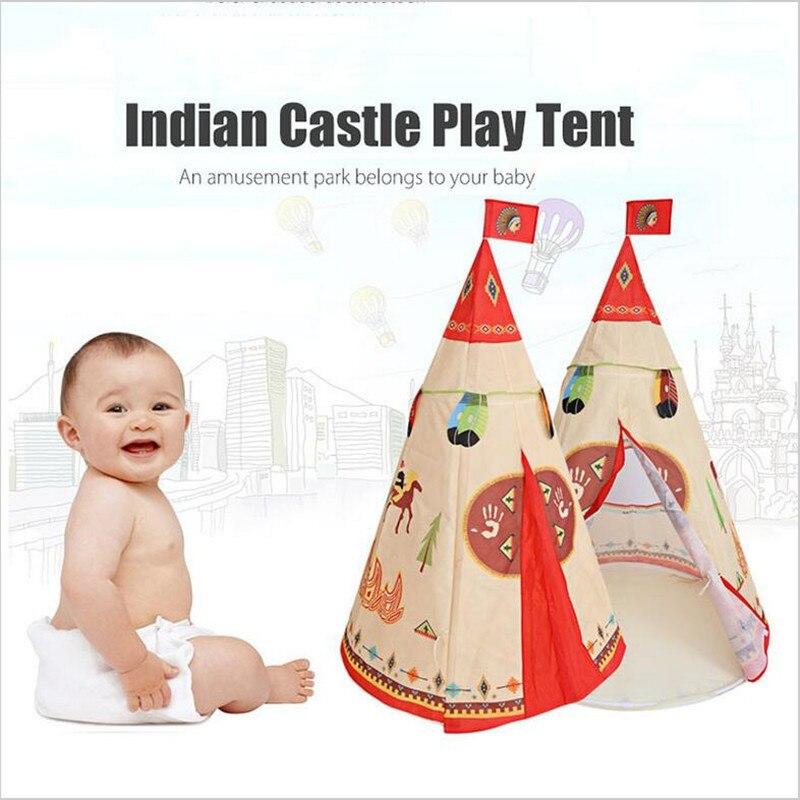 Nouveauté Style Indien jouet pour Enfant Tente Enfants Portable Pliant Tente de jeu château Intérieur Extérieur Tente Enfant salle de spectacle en jouet