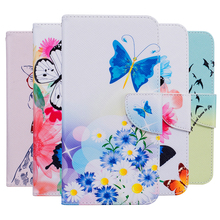 Fashion Printing PU Leather Cases For LG K5/Q6 X220 X220 X220ds X220mb 5.0″ Flip Wallet Cover Card Slot Holder Stand Phone Bags