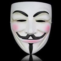 Wysokiej Jakości Biały Brązowy Żywicy V Jak Vendetta Anonymous Guy Fawkes Fancy Cosplay Maska Maska Maskarada Halloween Prop