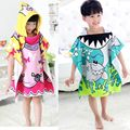 New 2016 Carton Hooded Baby Towels Kids Microfiber Bathrobe Bath Towel Infant Blanket Neonatal Children Kinderen Handdoeken