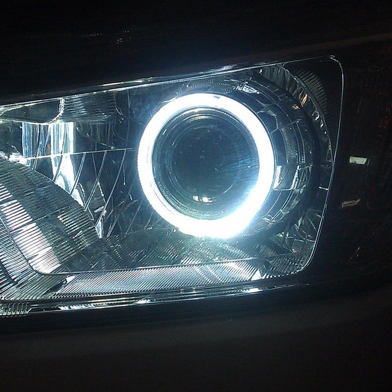Par 12 V Halo Anéis Olhos de Anjo COB LED iluminação de realce - Faróis do carro - Foto 3