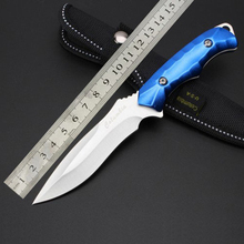 camping knife hunting knife survival knife outdoor leisure straight fixed rescue tools, 5Cr13Mov, 58HRC blade