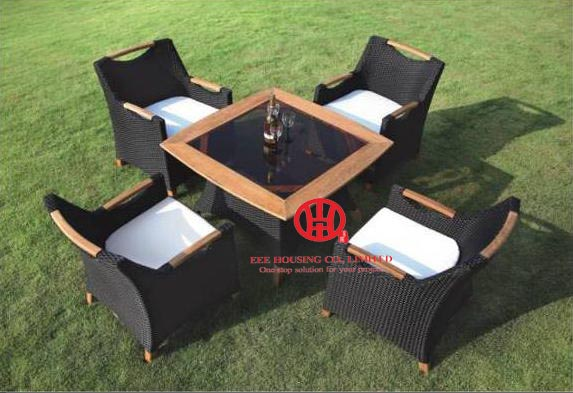Well-knit Rattan Garden Table And Chair Set  ,rattan Outdoor Poolside Wicker Plastic Sunbed