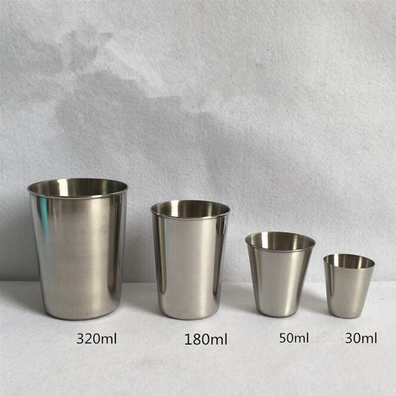 30/50/180/320ml Stainless Steel Cover Mug Camping Cup Outdoor Camp Mug Coffee Tea Beer Cup Outdoor Travel Camping Equipment To Win A High Admiration And Is Widely Trusted At Home And Abroad. Campcookingsupplies