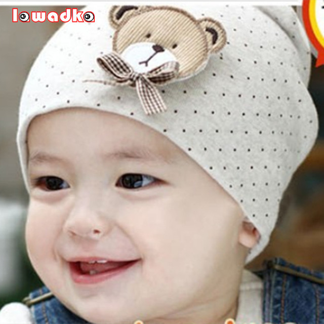 08d301d2d07 2015 Fashion New Cute Baby Hat Newborn Infant Toddler Girl Boy Baby Unisex  Cap Polka Dot Beanie Cotton Hat 9 Colors lovely Kids