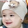 2015 moda de nueva lindo del bebé del sombrero recién nacido infant toddler girl boy bebé unisex cap beanie sombrero del algodón del punto de polca 9 colores encantadores niños