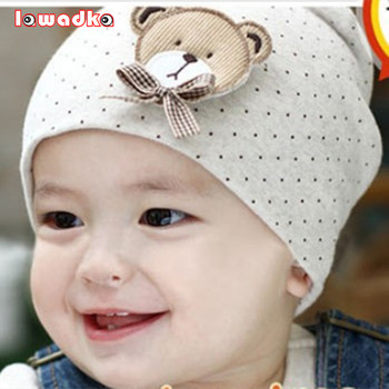 Fashion New Cute Baby Hat Newborn Infant Toddler Girl Boy Unisex Cap Polka Dot Beanie Cotton 9 Colors lovely Kids