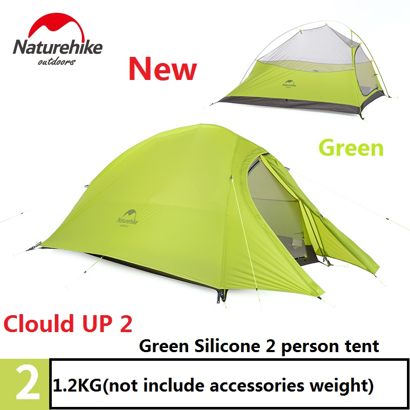 NatureHike Ultralight Waterproof Outdoor 4 Season 2 Person Tent 210T 20D Plaid Fabric Tents Double-layer Camping Tent By DH naturehike factory store 2 1kg 3 4 person tent double layer waterproof fabric camping hiking fishing tents dhl free shipping