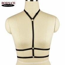 Womens Sexy Body harness Bondage Lingerie Elastic Adjust Back Strappy Tops Cage bra Fetish Erotic Burlesque Harness Garter Belt
