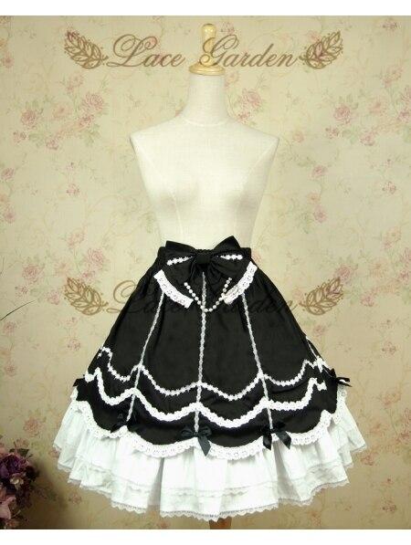 Jupes Lolita blanches et noires