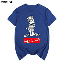 LIL PEEP HELLBOY hiphop rapper CRY BABY Summer print T-shirt Cotton Men T shirt New women TEE Punk Rock