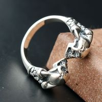 Ecoworld Jewelry Wholesale 925 Sterling Silver Genuine Ge Skull Ring Silver Handmade Mens Retro Silver Ring